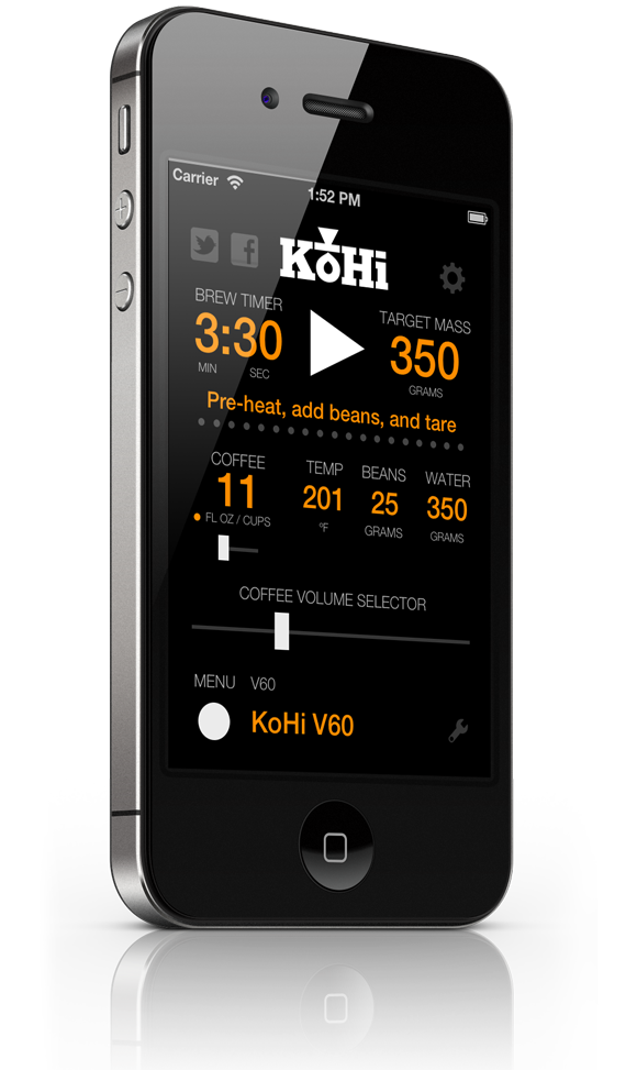 iphone-brewscreen-580 coffee timer